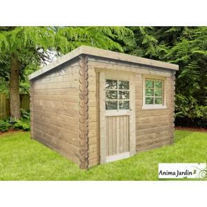 Abri de jardin en bois 28mm, Nevers, 5m², 1 portes, chalet toit ...