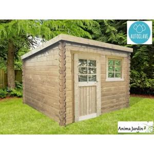 Abri de jardin en bois autoclave 28mm, Nevers, 5m², 1 portes, toit monopente, Solid, pas cher, achat