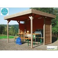 Pavillon de jardin en bois autoclave 19mm, Regensburg, 5m², Solid, pas cher, achat, vente