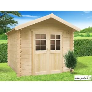 Abri de jardin en bois 19mm, cabanne, Gera, 5m², 2 portes, Solid, pas cher,  achat, vente 1c36ca11d8d2