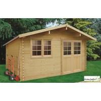 Abri de jardin en bois 28mm, Visp, 14m², 2 portes, Solid, pas cher, achat, vente