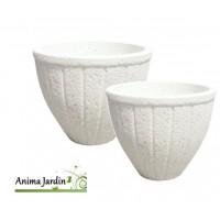Bac rond, Fuengirola, en marbre grainé blanc, poterie de jardin, Framusa, achat, vente