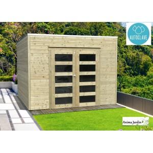Abri de jardin en bois autoclave 19mm, Bari, 8m², toit plat, 2 portes, Solid, pas cher, achat, vente