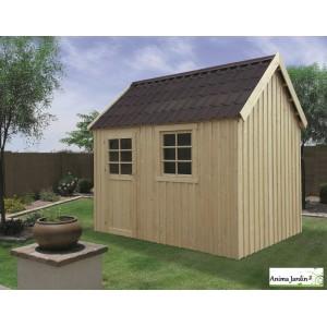 Abri de jardin en bois 16mm, Oleron, 6m², toit deux pentes, 1 porte, Solid, pas cher, achat, vente