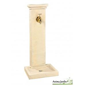 Fontaine borne schiste, en pierre reconstituée, 82,5 cm, jardin, Hairie, achat, vente