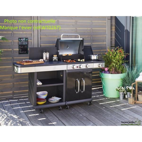 cuisine d 39 ext rieur fidgi barbecue gaz vier plancha. Black Bedroom Furniture Sets. Home Design Ideas