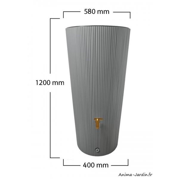 r cup rateur d 39 eau de pluie 220l linus 2 en 1 avec bac. Black Bedroom Furniture Sets. Home Design Ideas