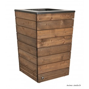Bac, Collectors, 90L, bois autoclave et métal, bac à fleurs, plantes, achat, pas cher