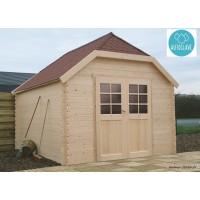 Abri de jardin en bois traité autoclave, 28mm, Limerick, 10m², 2 portes, Solid, pas cher, achat, vente