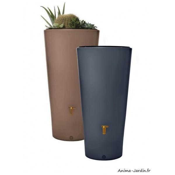 r cup rateur d 39 eau de pluie 220l vaso 2 en 1 avec bac fleurs graf achat pas cher
