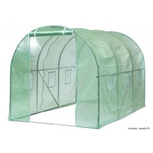 Serre tunnel maraîcher, 7 m², housse renforcée, serre de jardin, protection froid, potager, pas cher, Nature, achat