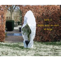 Grande housse d'hivernage zippée, 70 g/m², protection froid, plantes, Nature, achat, pas cher