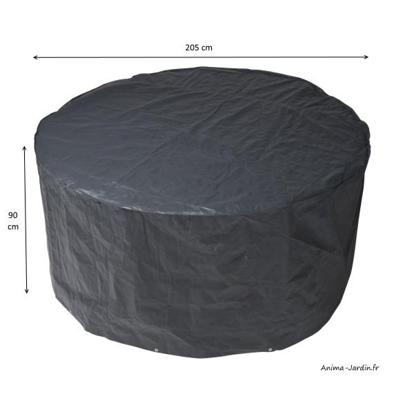 Housse de protection pour mobilier de jardin, table ronde ...