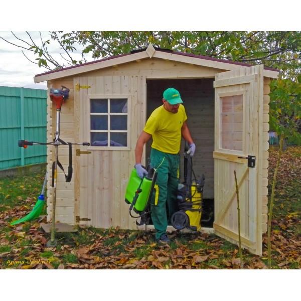 Abri de jardin en bois, 28mm, 4,68m², 2 portes, Foresta, achat ...