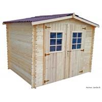 Abri de jardin en bois, 28mm, 4,68m², 2 portes, Foresta, achat, vente, pas cher