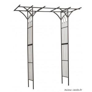 Pergola double droite, acier, décoration du jardin, allée, rosier, Nature, achat, vente, pas cher