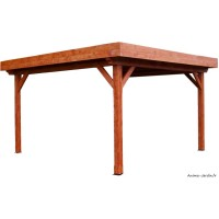 Auvent Ombra, toit plat, couverture bac acier, Foresta, achat, vente, pas cher