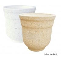 Bac rond, Corinto, en marbre grainé, poterie de jardin, Framusa, achat, vente, pas cher