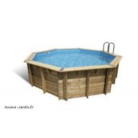 Piscine OCEA, 4,30m - H120cm, entourage bois, UBBINK, qualité, achat, vente, pas cher
