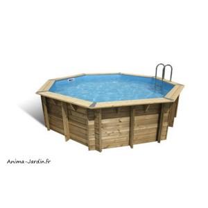 Piscine OCEA, 4,30m x H120cm, entourage bois, UBBINK, qualité, achat, vente, pas cher