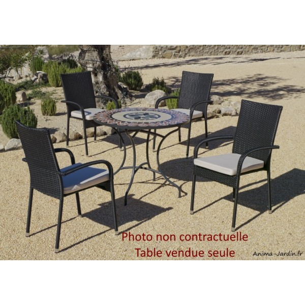 petite table mosa que table manger ronde cambel90. Black Bedroom Furniture Sets. Home Design Ideas