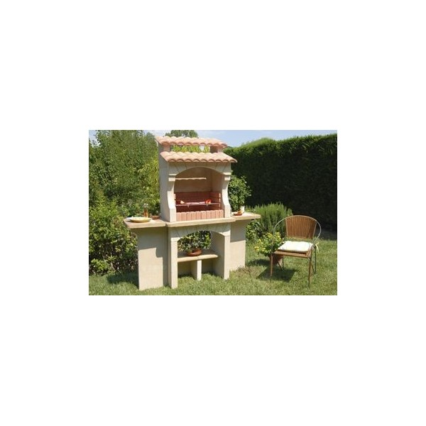 Barbecue ext rieur en pierre traditionnel en brique b ton pas cher cordoue - Barbecue beton pas cher ...