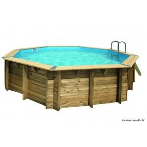 Piscine OCEA, 5,10m x H120cm, entourage bois, UBBINK, qualité, achat, vente, pas cher