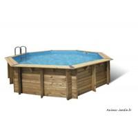 Piscine OCEA, 5,80m x H130cm, entourage bois, UBBINK, qualité, achat, vente, pas cher