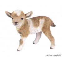Agneau, marron et blanc, 29 cm en résine, animal, déco de jardin, Riviera, achat, vente, pas cher