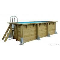 Piscine, UrbanPool 2,50 x 4,50m x  H 140cm, entourage bois, UBBINK, qualité, achat, vente, pas cher