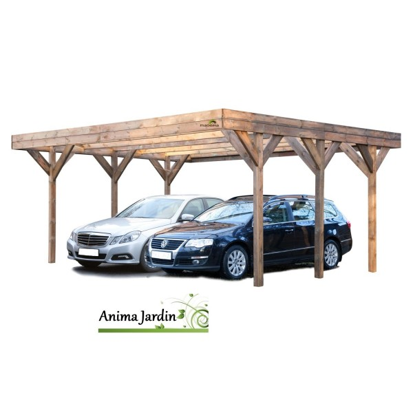 carport double enzo 2 voitures trait madeira achat pas cher. Black Bedroom Furniture Sets. Home Design Ideas
