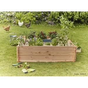 Carré potager en bois, Keyhole Garden, 170 x 120 cm, Autonome, Mon Petit Potager, achat
