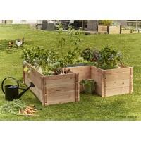 Grand carré potager en bois, Keyhole Garden, 170 x 170 cm, autonome, Mon Petit Potager, achat