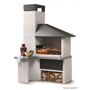 barbecue en pierre faro new design marmotech gris charbon de bois palazzetti achat pas cher
