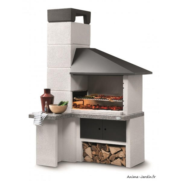Barbecue en pierre, Faro new, design, marmotech, gris