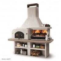 Barbecue en pierre, four, Gargano 3, béton, charbon de bois, Palazzetti, achat, pas cher