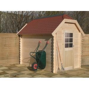 Abri de jardin en bois 28mm, Galway, 5m², 1 porte, Solid, pas cher, achat, vente