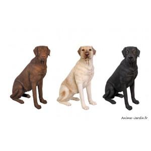 Labrador assis en résine, animal, jardin, décoration de jardin, achat, pas cher