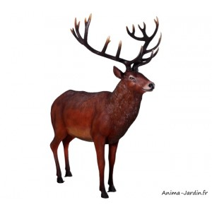 Cerf adulte en résine, animal des forêts, décoration de jardin, achat, pas cher