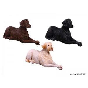 Labrador couché en résine, animal, jardin, décoration de jardin, achat, pas cher