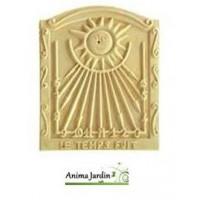 Le Cadran solaire de Jardin, horloge solaire en pierre reconstituée brut