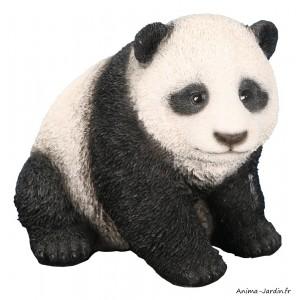 Bébé panda, 12 cm en résine, animal, décoration de jardin, Riviera, achat, vente, pas cher
