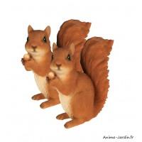 Lot de 2 écureuils, 14 cm, animal en résine, décoration de jardin, Riviera, achat, vente, pas cher