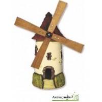 Moulin de jardin, TUILE, décoration de jardin, 72cm, achat pas cher,