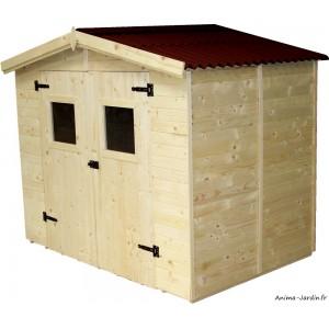 Abri de jardin en bois, 16 mm, 3,70 m², avec plancher, Foresta, achat, vente, pas cher
