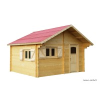 Abri de jardin en bois, grande superficie, 60mm, habitable, 17,22m², Foresta, achat, pas cher