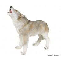 Loup, 46 cm, animal en poly-résine, décoration du jardin, achat, vente, pas cher