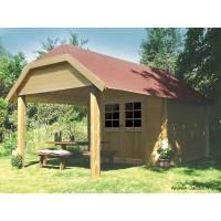 Abri de jardin en bois 28mm, Cork, 8m², 2 portes, Solid, pas cher, achat, vente