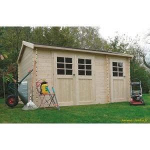 Abri de jardin en bois 28mm, Passage, 11 m², 2 parties, Solid, pas cher, achat