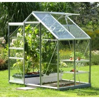 Serre Jardin Aluminium Venus 2500 en verre trempé, 2,50m2, Lams, achat